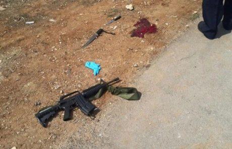 נסיון חטיפת נשק ודקירה של שוטר מרחב חברון