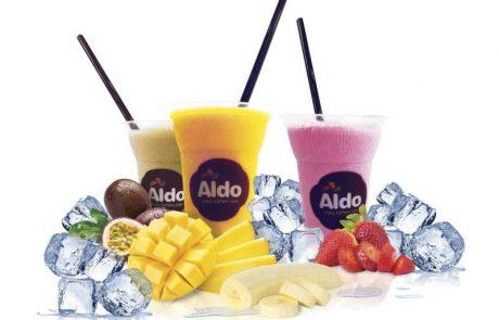 גלידת ALDO  מציע משקאות קיץ  בתחנות הדלק של סונול