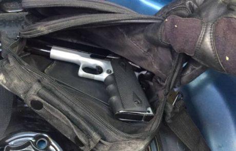 לוחמי משמר הגבול איתרו אקדח מוסלק בתא המטען
