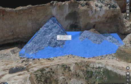 עיריית רמאללה שפכה עשרות אלפי קוב של אשפה בסמוך לשער בנימין