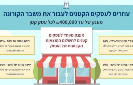 אושר בממשלה סיוע מורחב לעצמאים ועסקים קטנים