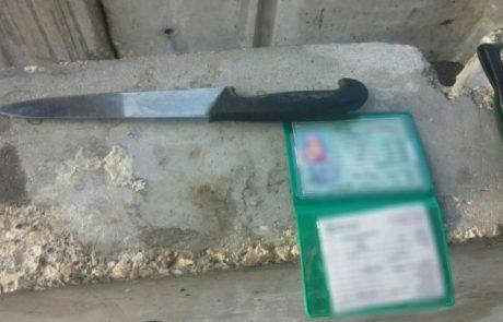 מחבלת חמושה בסכין נעצרה במחסום הקיוסק