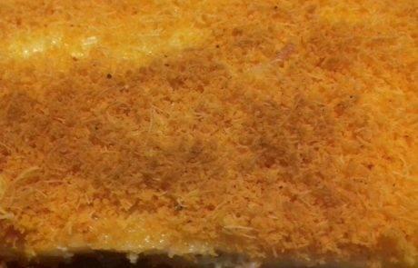 כנאפה מלוחה עם גבינות וזיתים