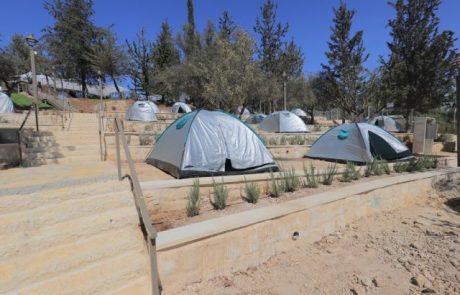 לראשונה בירושלים: מתחם קמפינג עירוני