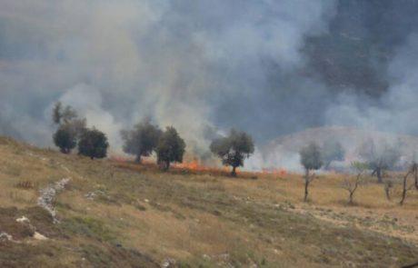 טרור ההצתות -ערבים מעוריף הציתו אש לכיוון יצהר