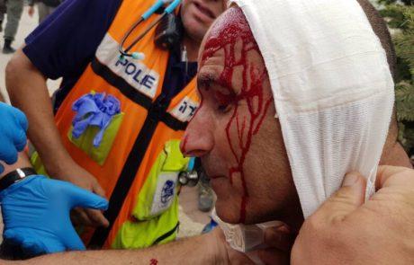שני שוטרים נפצעו בעת הפינוי בנתיב האבות
