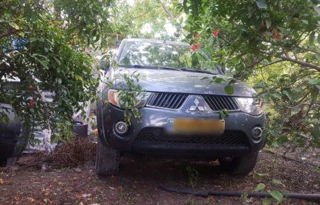 שוד אלים של רכב מישראלי בכפר הפלסטיני נבי אליאס