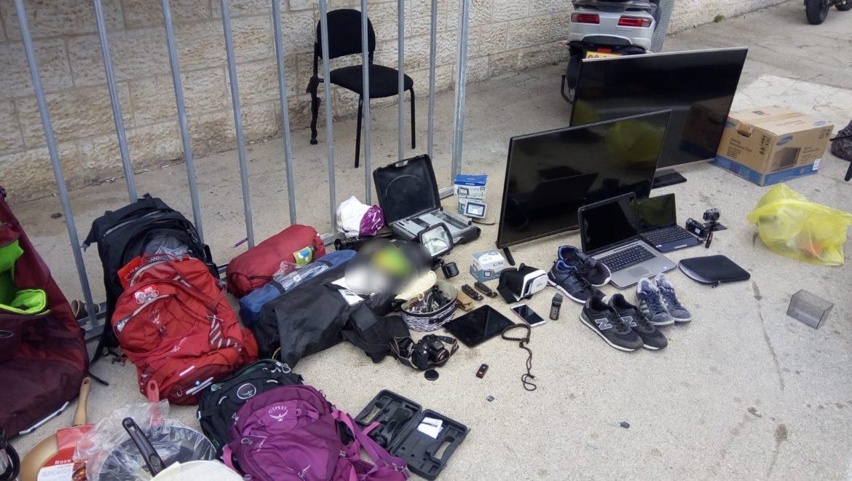 שלושה פלסטינים נעצרו בשל פריצה וגניבת רכוש