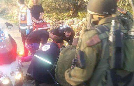 ארבעה פצועים בפיגוע דריסה סמוך לבית אריה