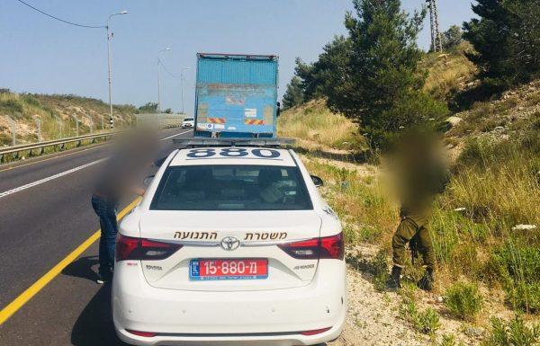 נתפס חם ברחפן: צפו בנהיגה פושעת של משאית