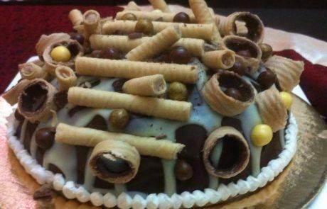 עוגת כיפה מוס חלבה לפסח