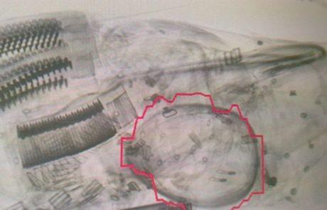 אמצעי לחימה התגלו בכבודה של נוסעת בשדה דב