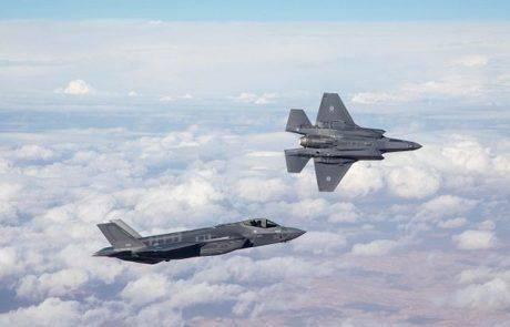 טייסי חיל האוויר הטיסו אתמול לראשונה את מטוסי האדיר