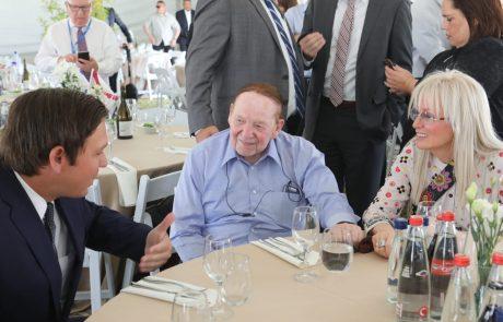 אוניברסיטת אריאל מארחת את מושל פלורידה רון דסנטיז