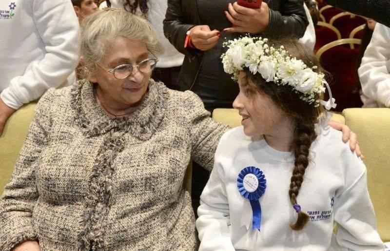 """בתה של דפנה מאיר ז""""ל בבית הנשיא אמא תעמוד לצדי מרחוק ותתפלל"""