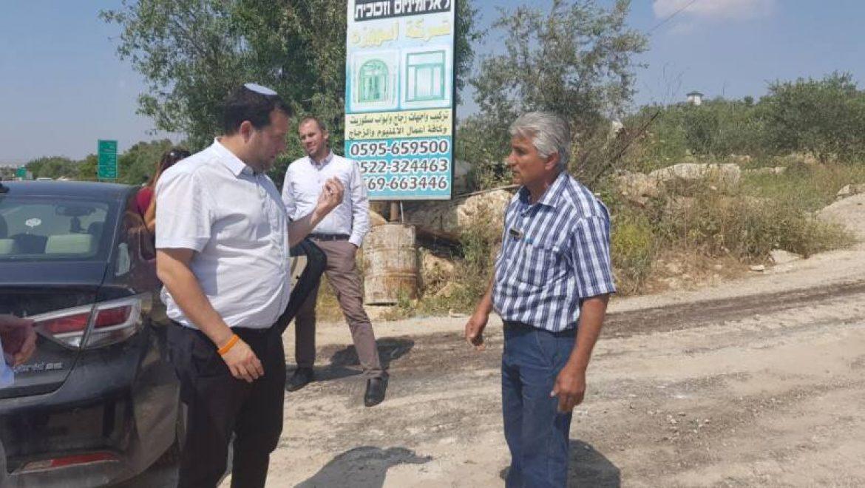 נעצרה סלילת כביש מסכנת חיים בשומרון