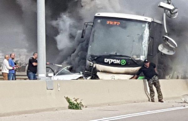 תאונה קשה בכביש 5