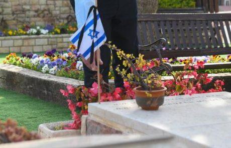 אירועי יום הזיכרון נפתחו אתמול בטקס מצומצם בהר הרצל