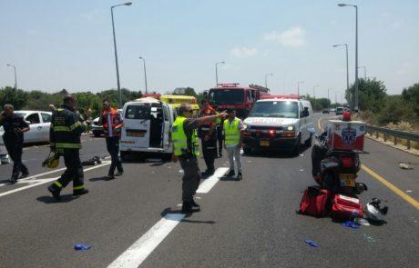 ילד בן שש ואביו נהרגו היום בתאונת דרכים