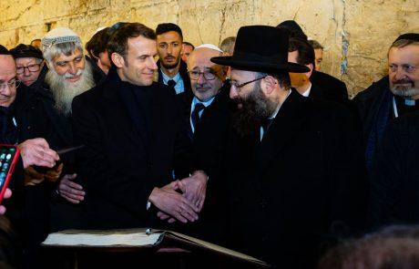 ויכוח בין מקרון למאבטחים ישראלים הסתיים בהבנה היום בירושלים
