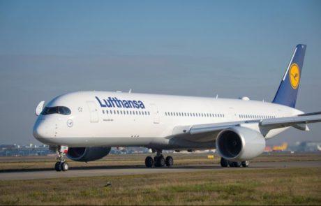 מטוס איירבס A350-900 הראשון התקבל בלופטהנזה