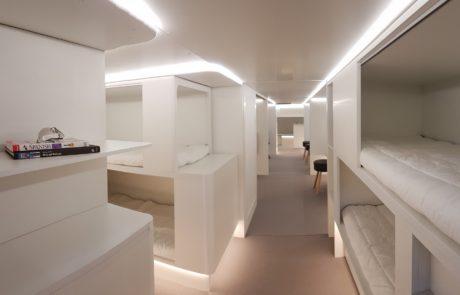 איירבוס: דרגשי שינה לנוסעים בתאי המטען