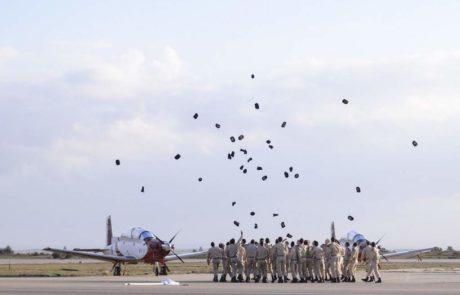 היום  הוענקו דרגות קצונה לבוגרי קורס הטיס