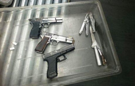נתפסו כלי נשק מהשטחים אשר היו בדרכם לישראל