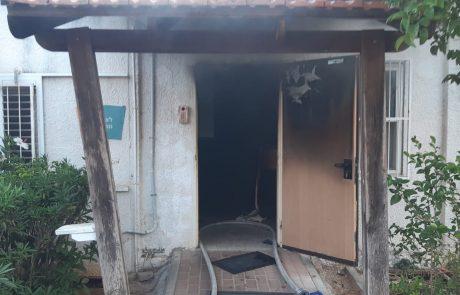 כובתה שריפה בלשכת מנכל העיר אריאל
