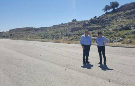 ח״כ שרן השכל  לשר הבטחון השלם את בניית כביש עוקף שומרון