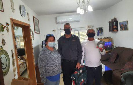 כבאות והצלה שומרון  יצאו למבצע התקנת גלאי עשן לאוכלוסייה מבוגרת