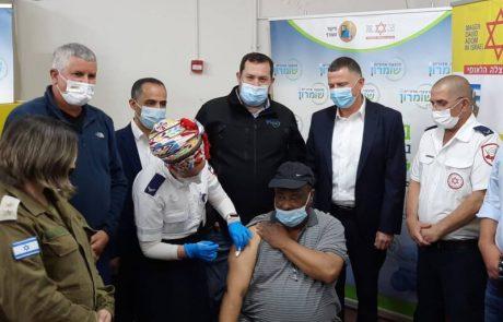 """נפתח מתחם חיסון קורונה לפלסטינים העובדים בהתיישבות ביו""""ש"""