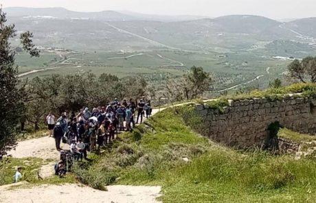 חול המועד ביהודה ושומרון הישראלים הצביעו ברגלים