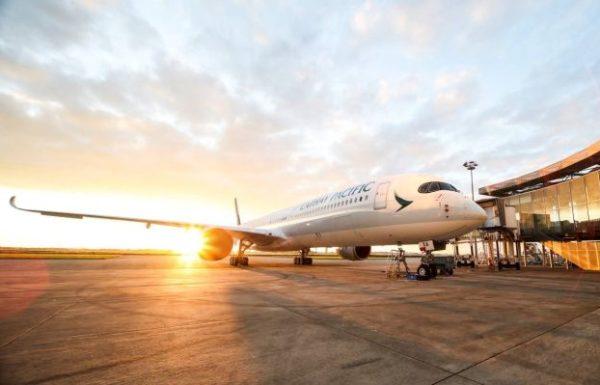 """איירבס A350-1000 החדיש של קתאי פסיפיק נחת לראשונה בנתב""""ג"""