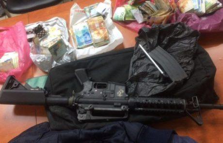 נעצר פלסטיני שנחשד באחזקת חומרי לחימה וסמים