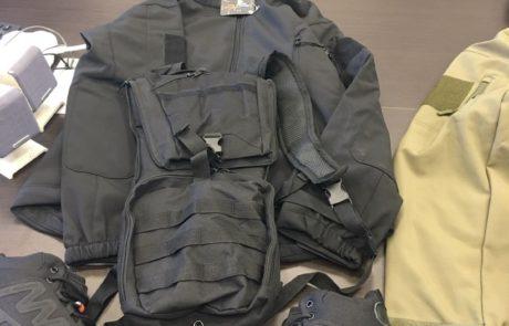 סוכלה הברחת אלפי פריטי לבוש צבאיים ואפודים לרצועת עזה