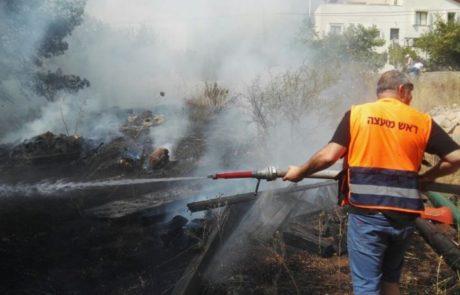 שריפה ברחוב לבונה בבית אריה