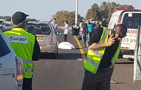 הולך רגל נהרג בתאונה קטלנית בכביש החוף