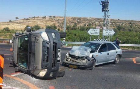 """חשד לפיגוע -הפיכת רכב צבאי ע""""י ערבי באזור נווה דניאל"""