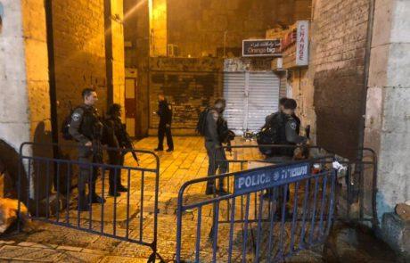 """שני שוטרי מג""""ב נפצעו הבוקר בפיגוע דקירה בירושלים"""