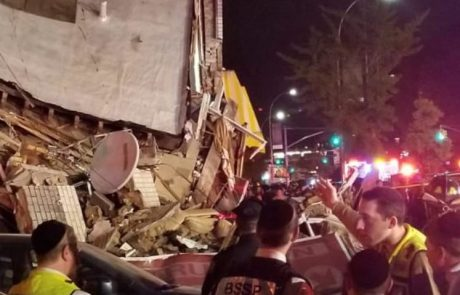 ברוקלין : רכב פגע בבניין שקרס מעצמת ההתנגשות