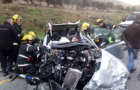 שני הרוגים בתאונת דרכים ליד עלי