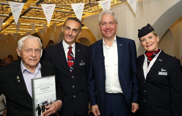 """אלכס זילוני בן 103 מת""""א הוא העובד הוותיק ביותר של בריטיש איירווייס"""