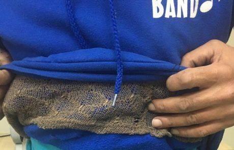 ארבע תושבי שטחים נתפסו עם שלל ציפורי שיר מתחת לבגדיהם