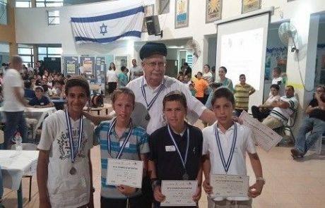 תלמידי קרני שומרון עלו  לארצית  באולימפיאדת החשיבה