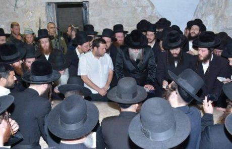 """האדמו""""ר ממודז'יץ ביקר והתפלל בקבר יוסף"""